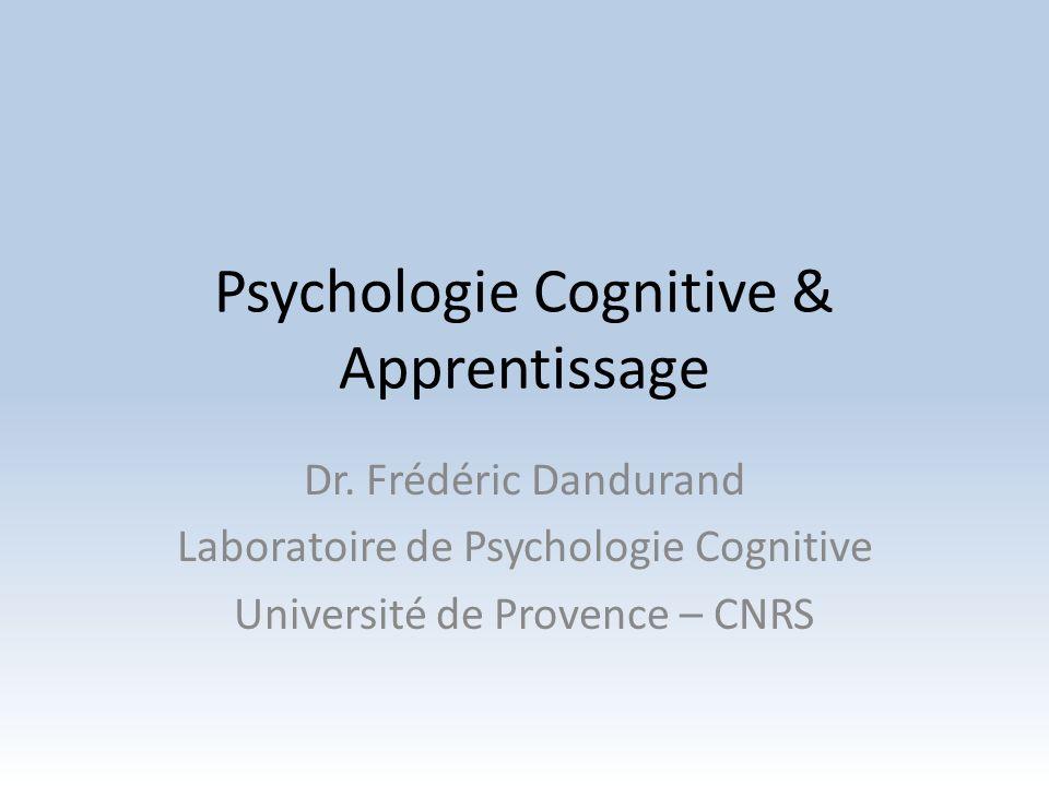 Psychologie Cognitive & Apprentissage