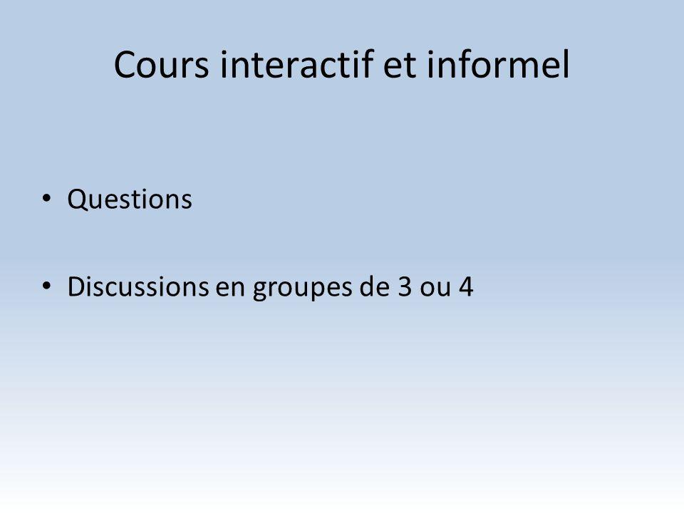 Cours interactif et informel
