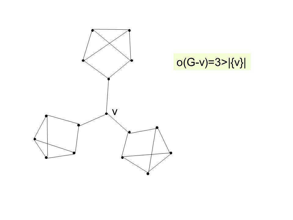 o(G-v)=3>|{v}| v