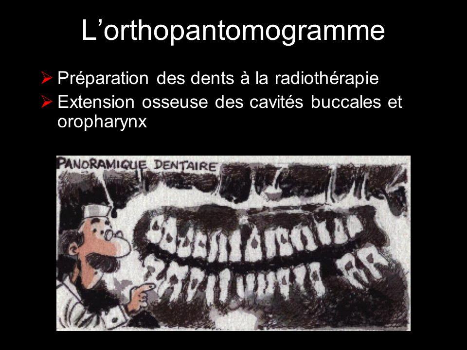 L'orthopantomogramme