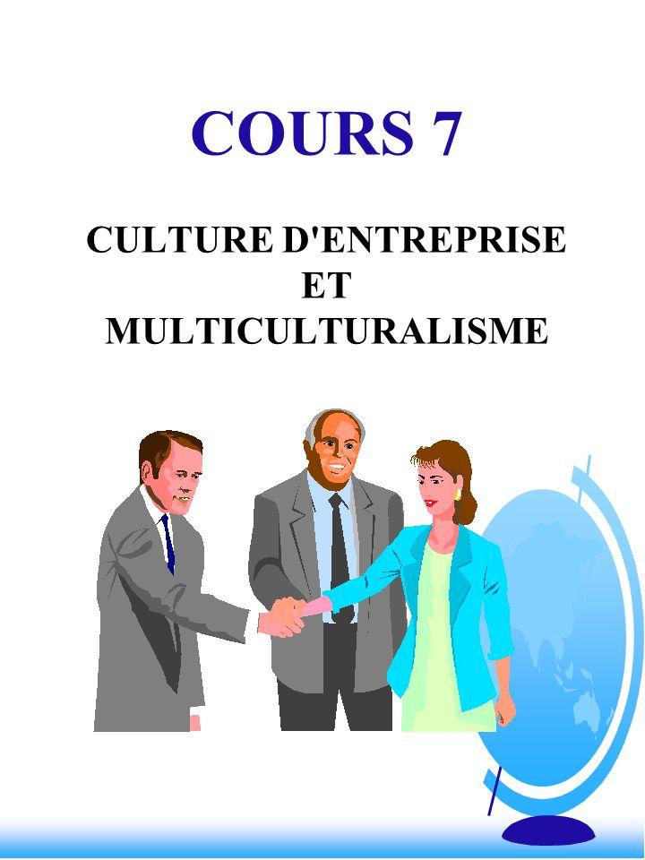 COURS 7 CULTURE D ENTREPRISE ET MULTICULTURALISME