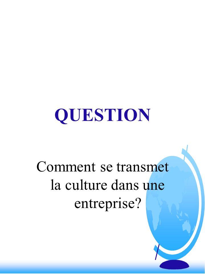 Comment se transmet la culture dans une entreprise