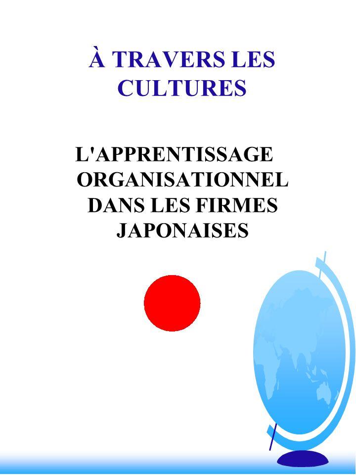 L APPRENTISSAGE ORGANISATIONNEL DANS LES FIRMES JAPONAISES