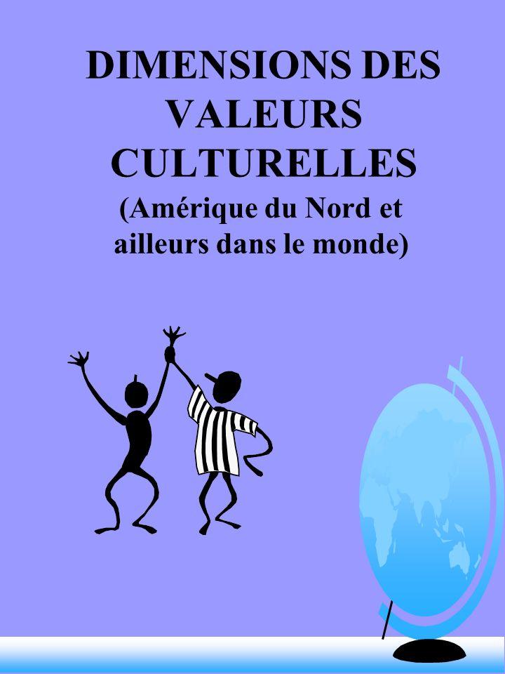 DIMENSIONS DES VALEURS CULTURELLES