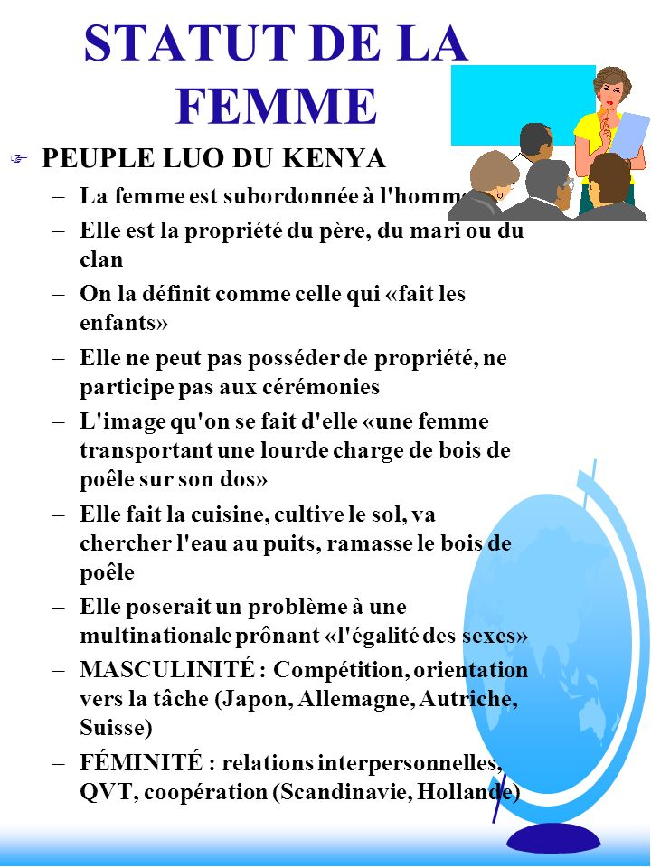 STATUT DE LA FEMME PEUPLE LUO DU KENYA