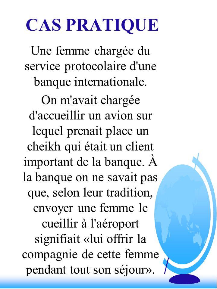 Une femme chargée du service protocolaire d une banque internationale.