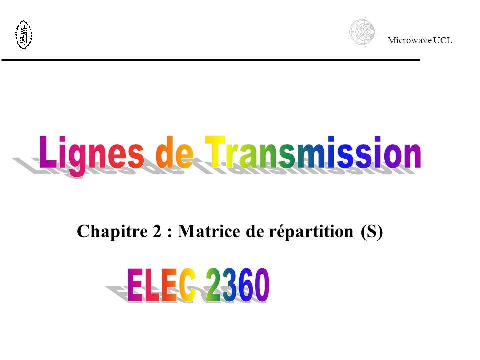 Chapitre 2 : Matrice de répartition (S)
