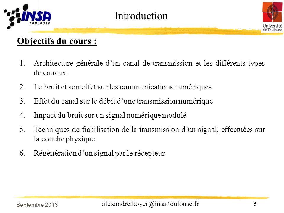 Introduction Objectifs du cours :