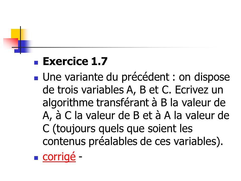 Exercice 1.7