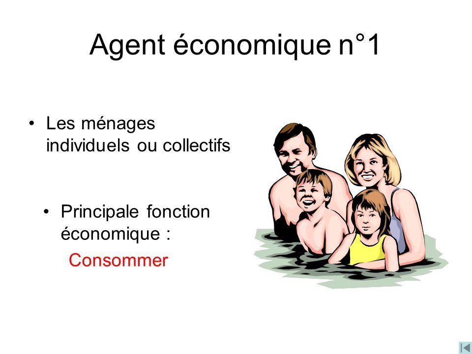 Agent économique n°1 Les ménages individuels ou collectifs