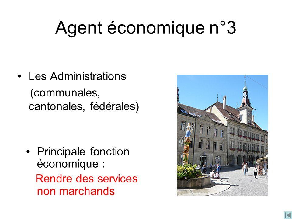 Agent économique n°3 Les Administrations
