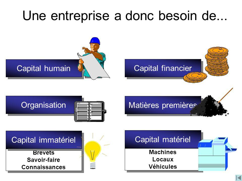 Une entreprise a donc besoin de...