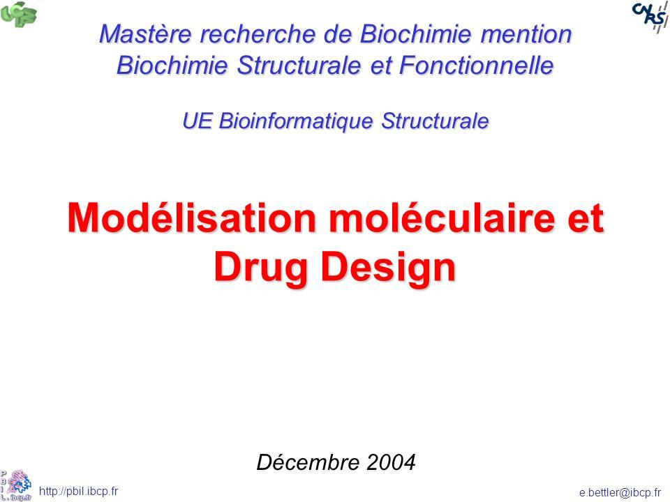 Modélisation moléculaire et Drug Design