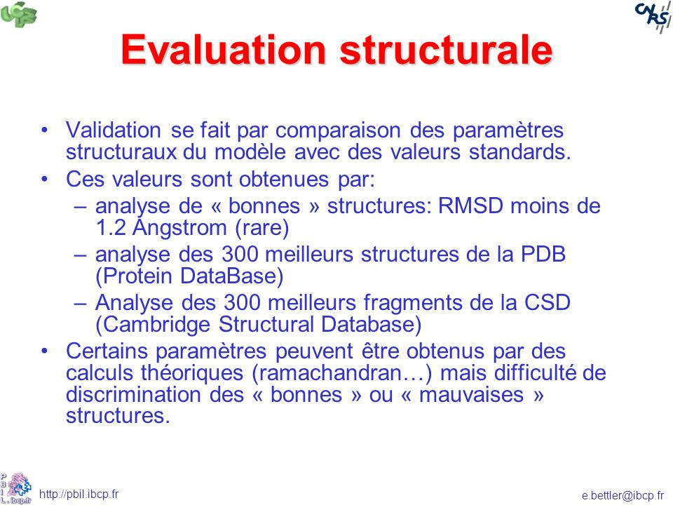 Evaluation structurale