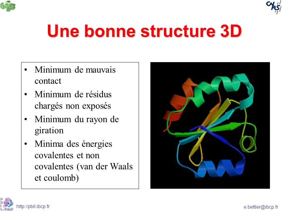 Une bonne structure 3D Minimum de mauvais contact