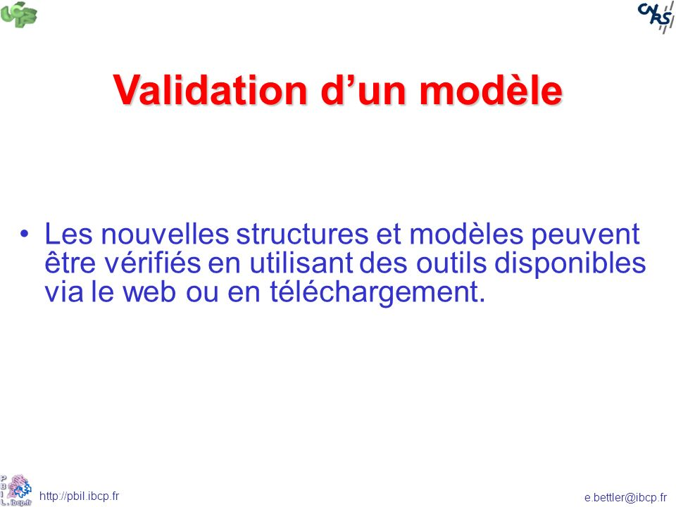 Validation d'un modèle