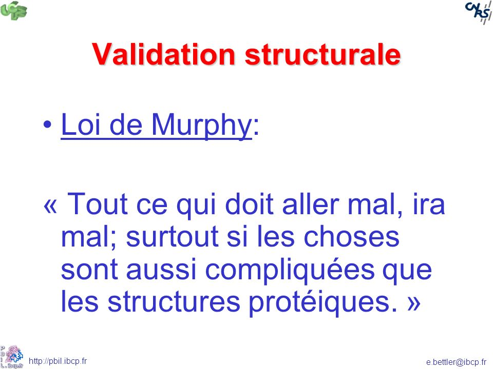 Validation structurale