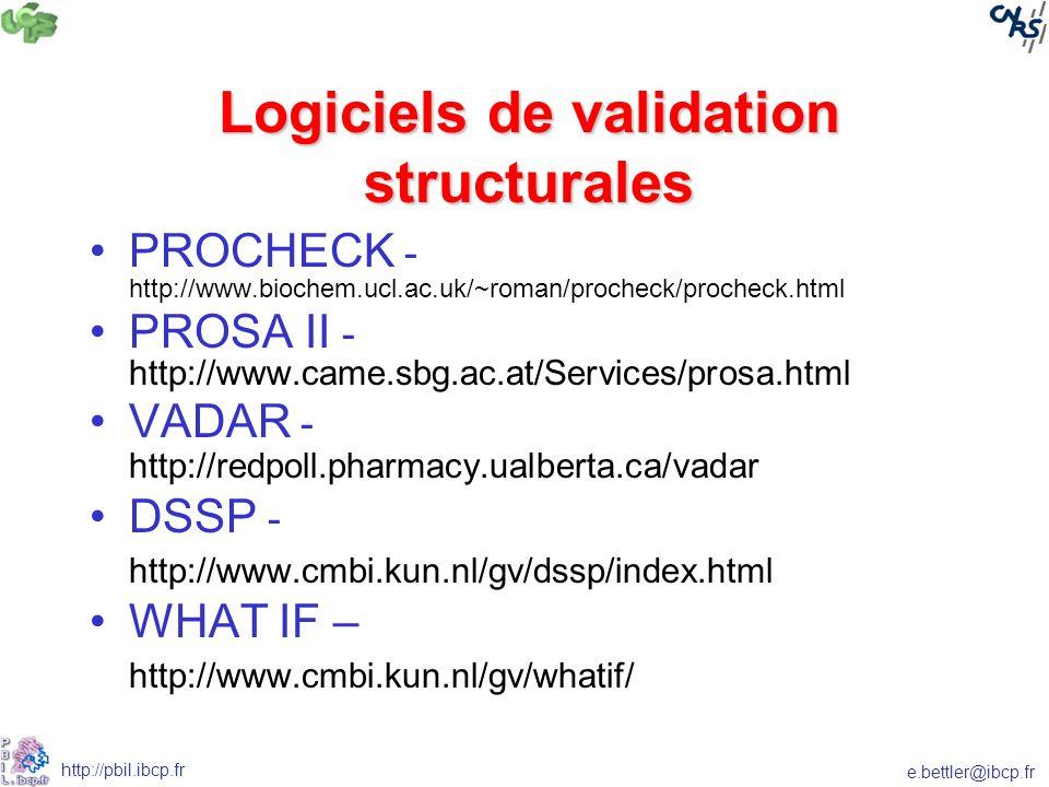 Logiciels de validation structurales