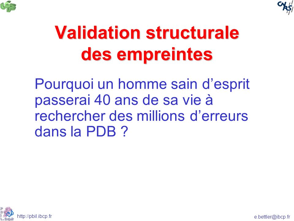 Validation structurale des empreintes
