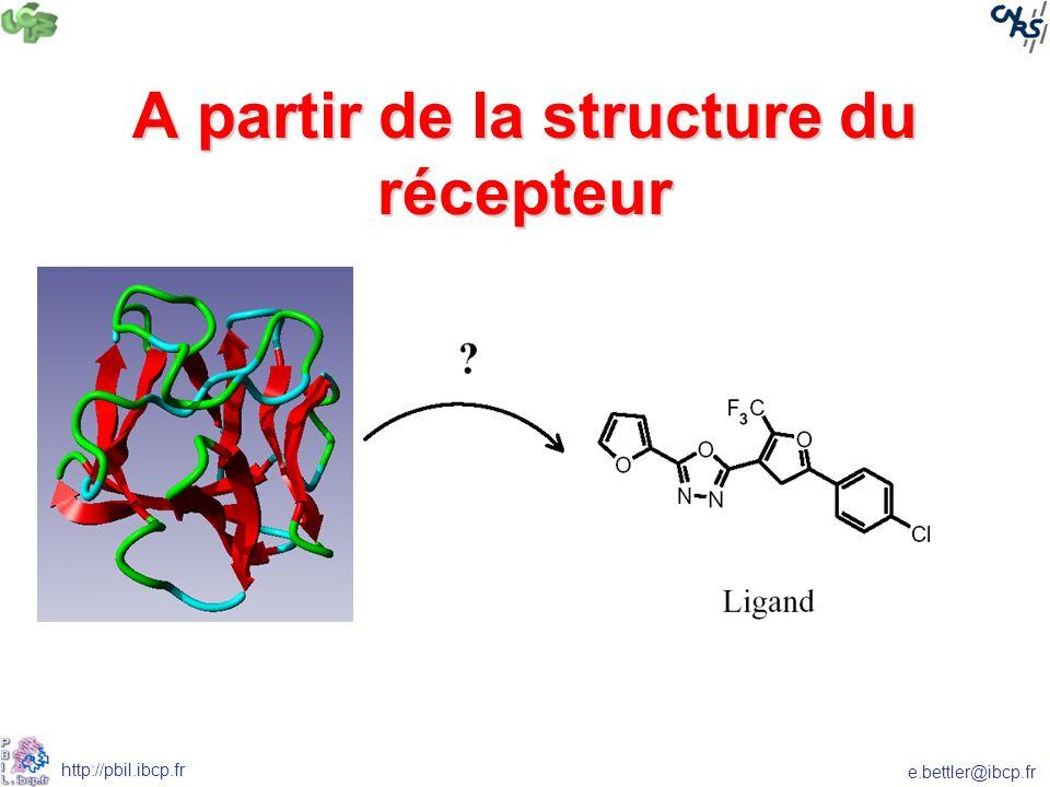 A partir de la structure du récepteur