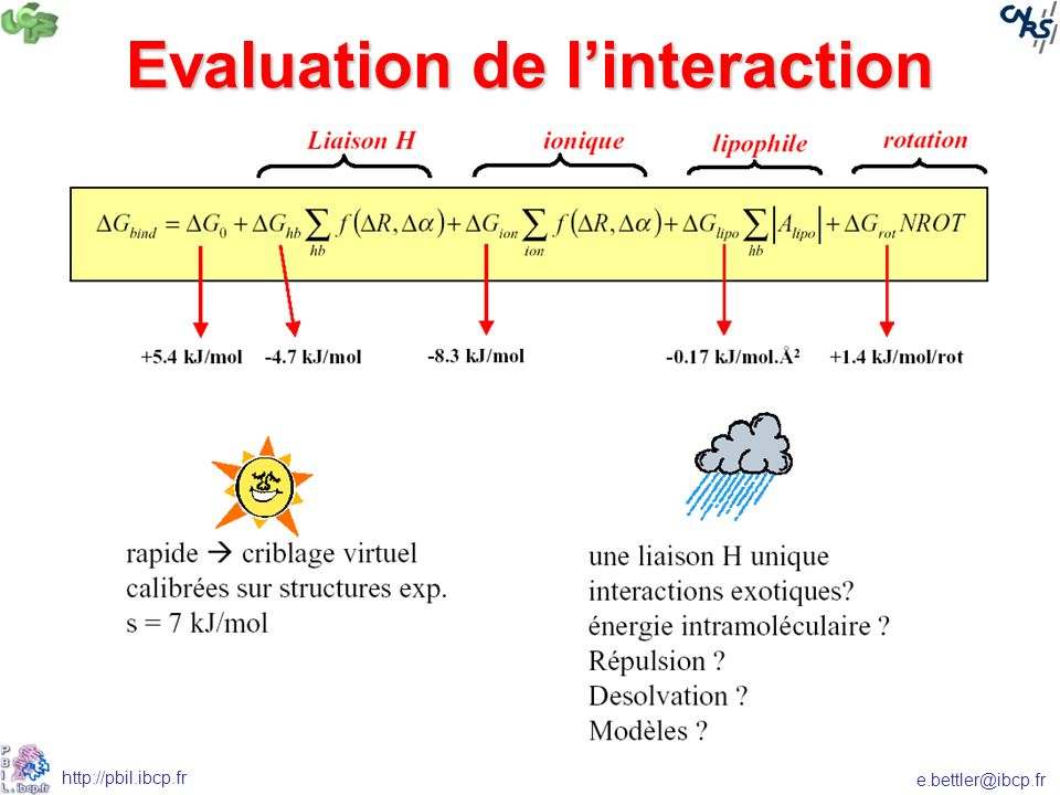 Evaluation de l'interaction