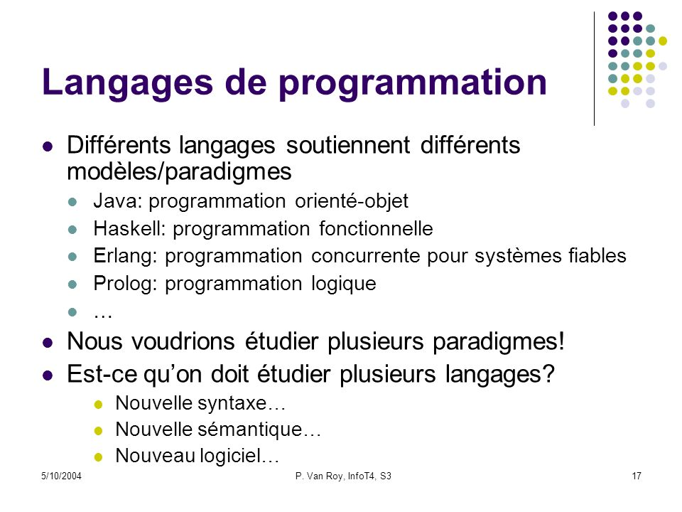 Langages de programmation