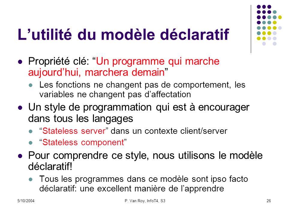 L'utilité du modèle déclaratif