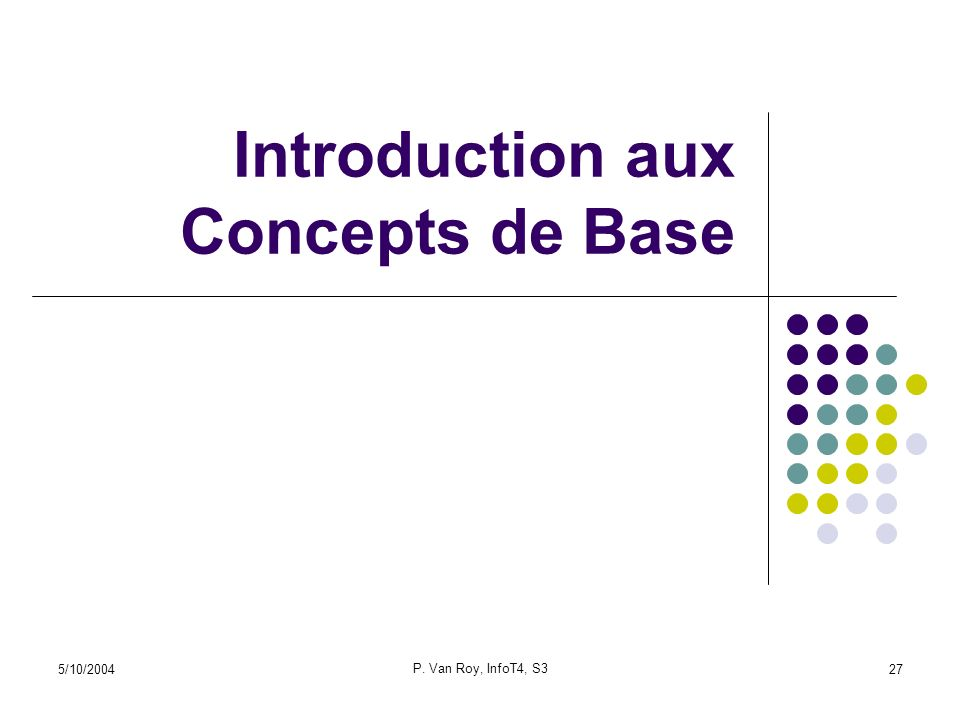 Introduction aux Concepts de Base