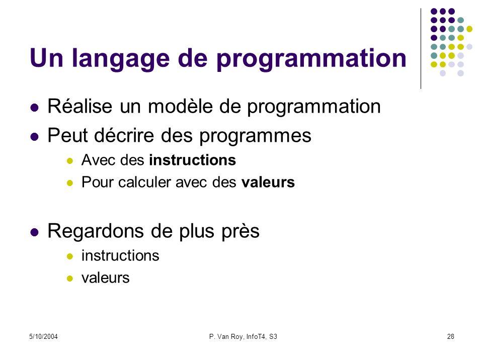 Un langage de programmation