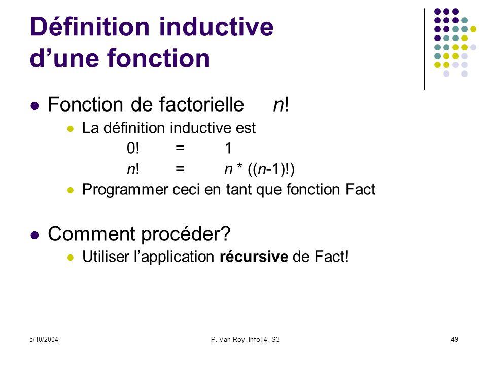 Définition inductive d'une fonction