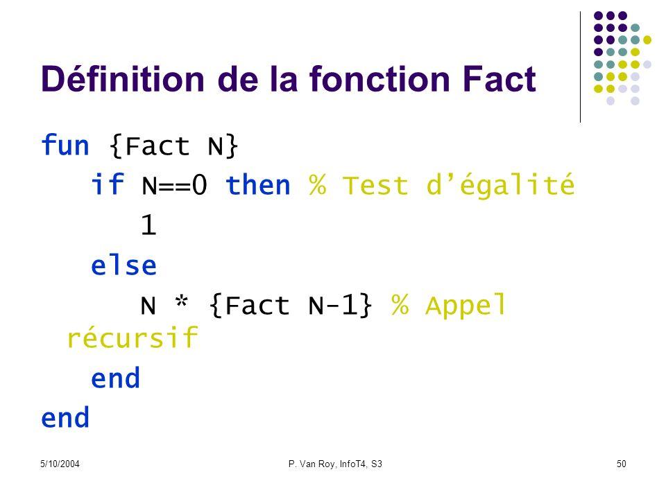 Définition de la fonction Fact