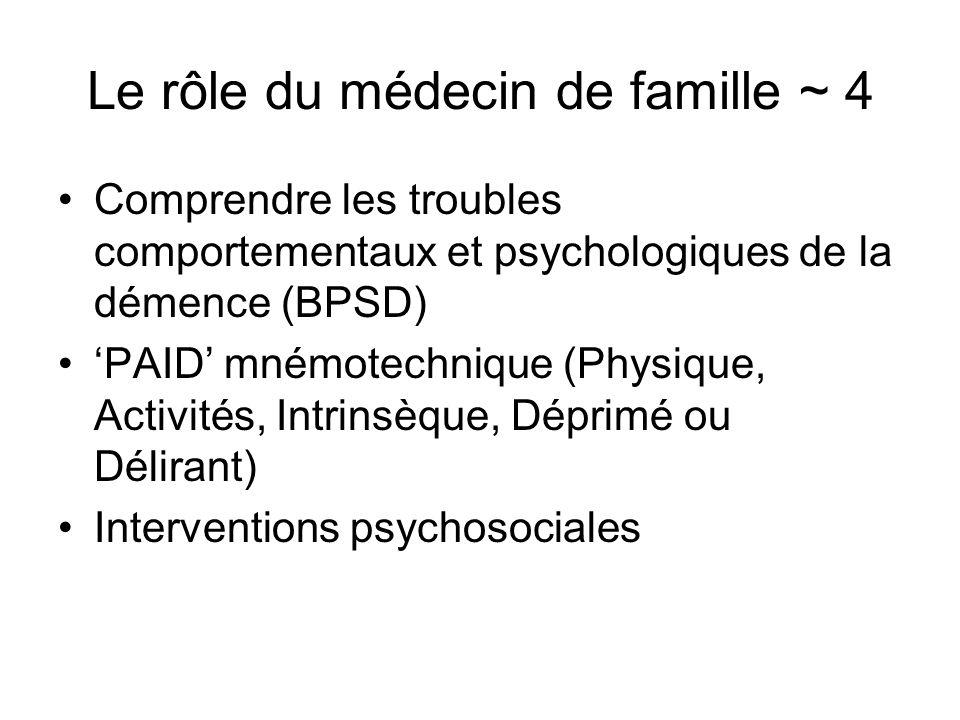 Le rôle du médecin de famille ~ 4