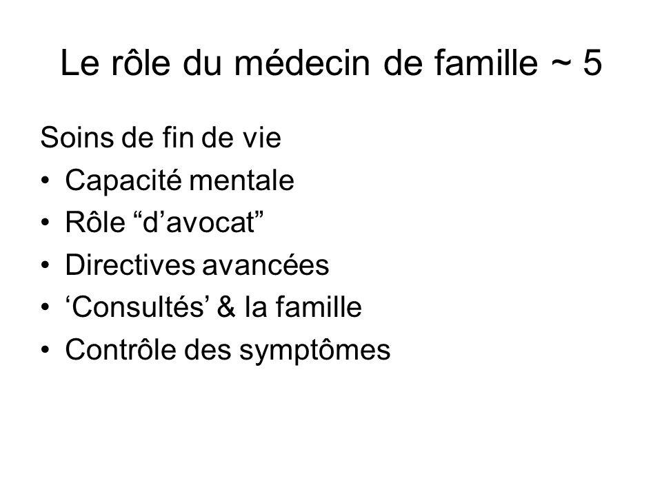 Le rôle du médecin de famille ~ 5