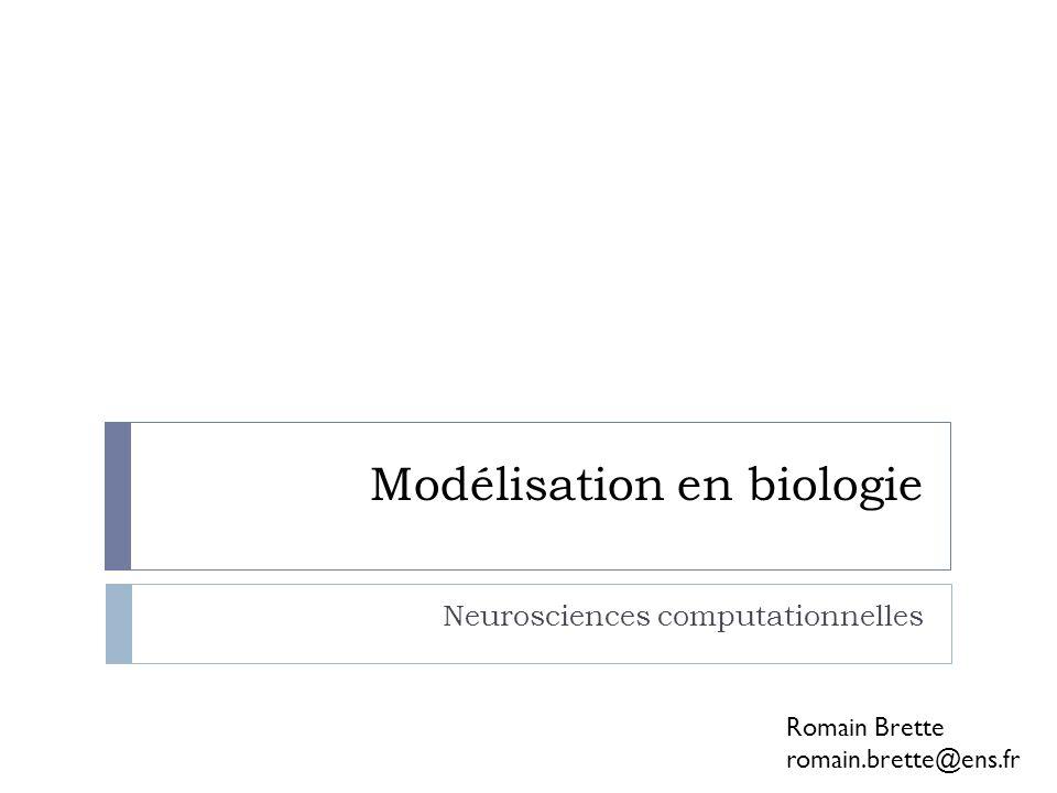 Modélisation en biologie