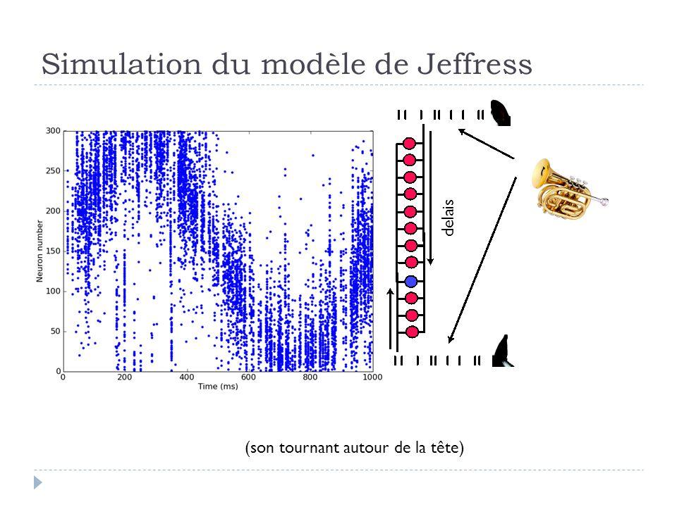 Simulation du modèle de Jeffress