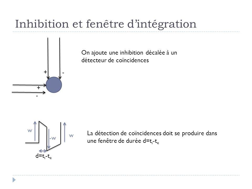 Inhibition et fenêtre d'intégration