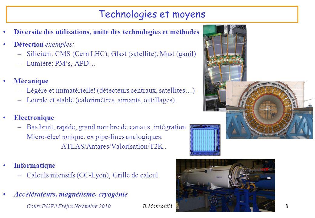 Technologies et moyens
