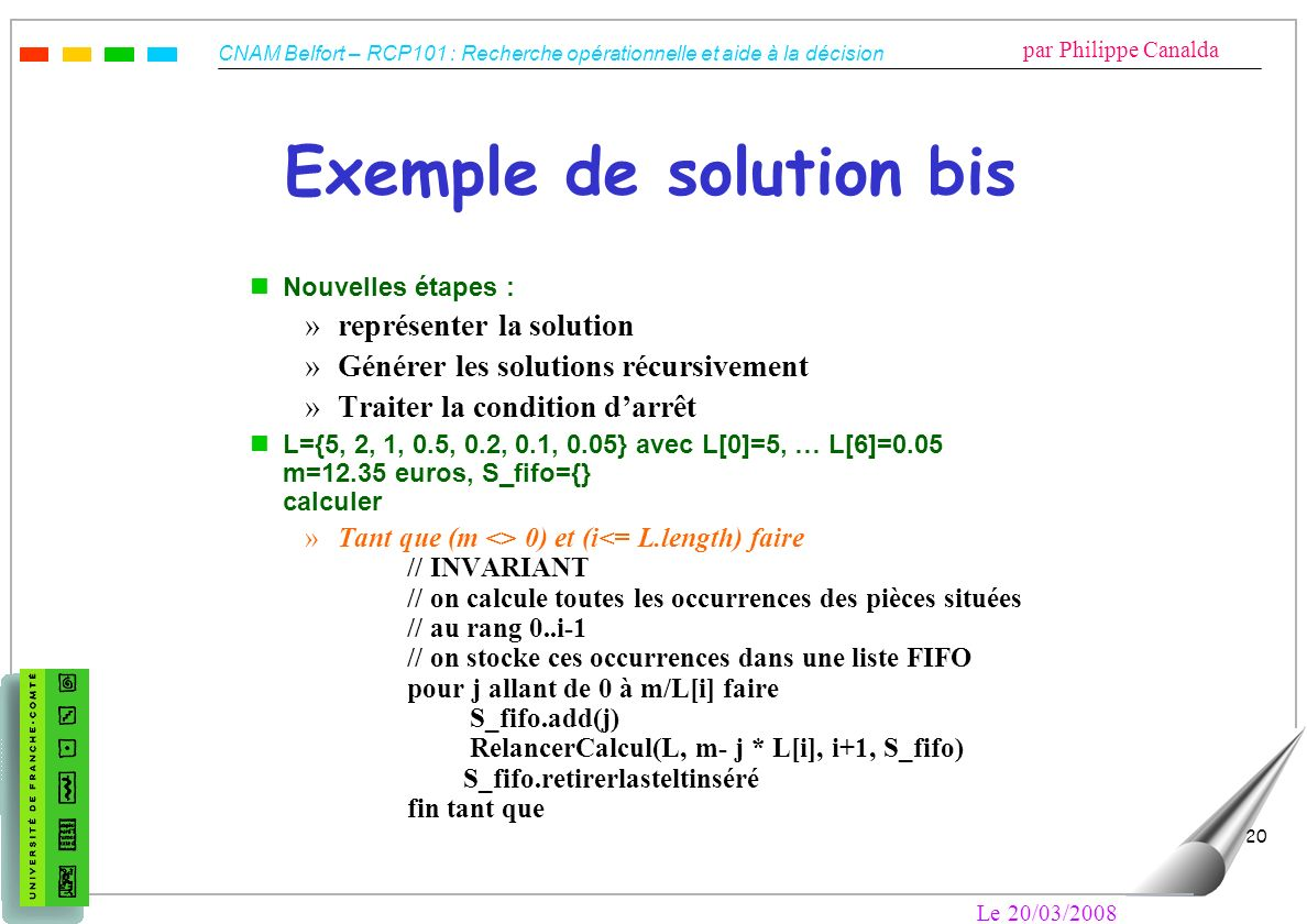 Exemple de solution bis