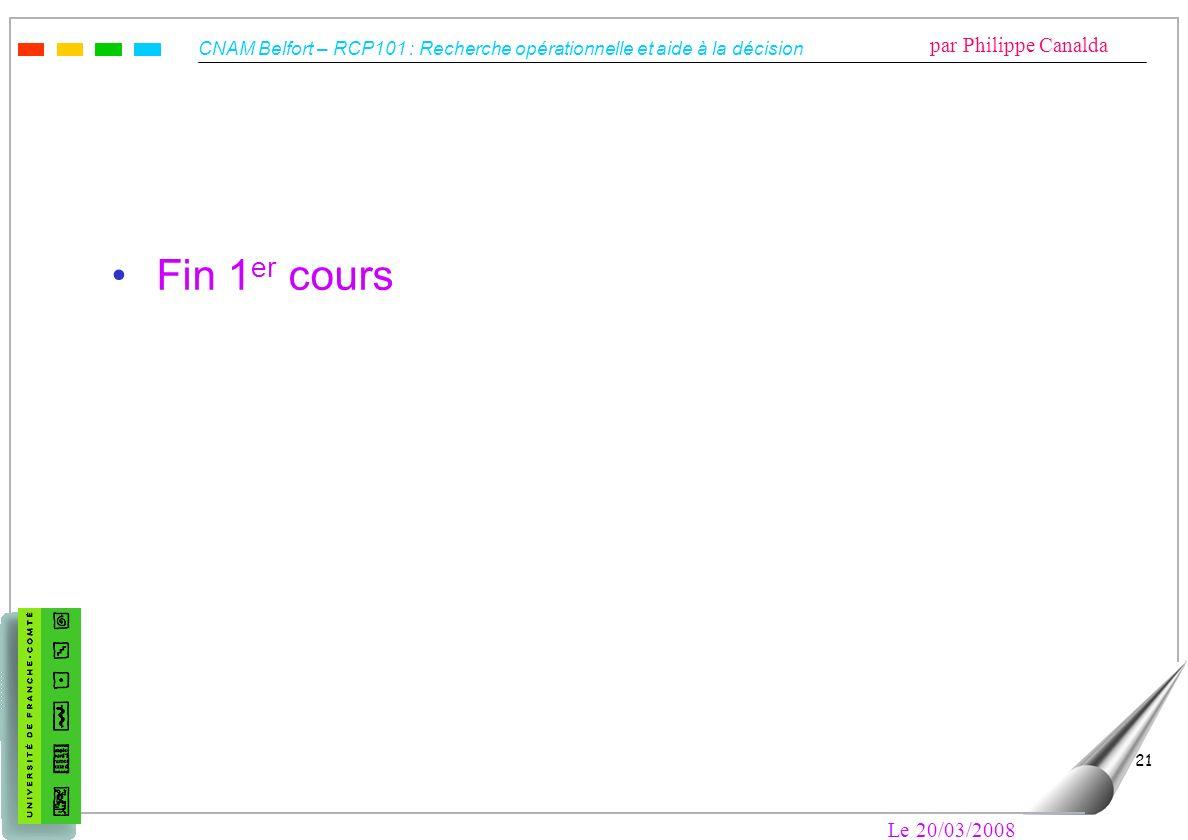 Fin 1er cours Le 20/03/2008