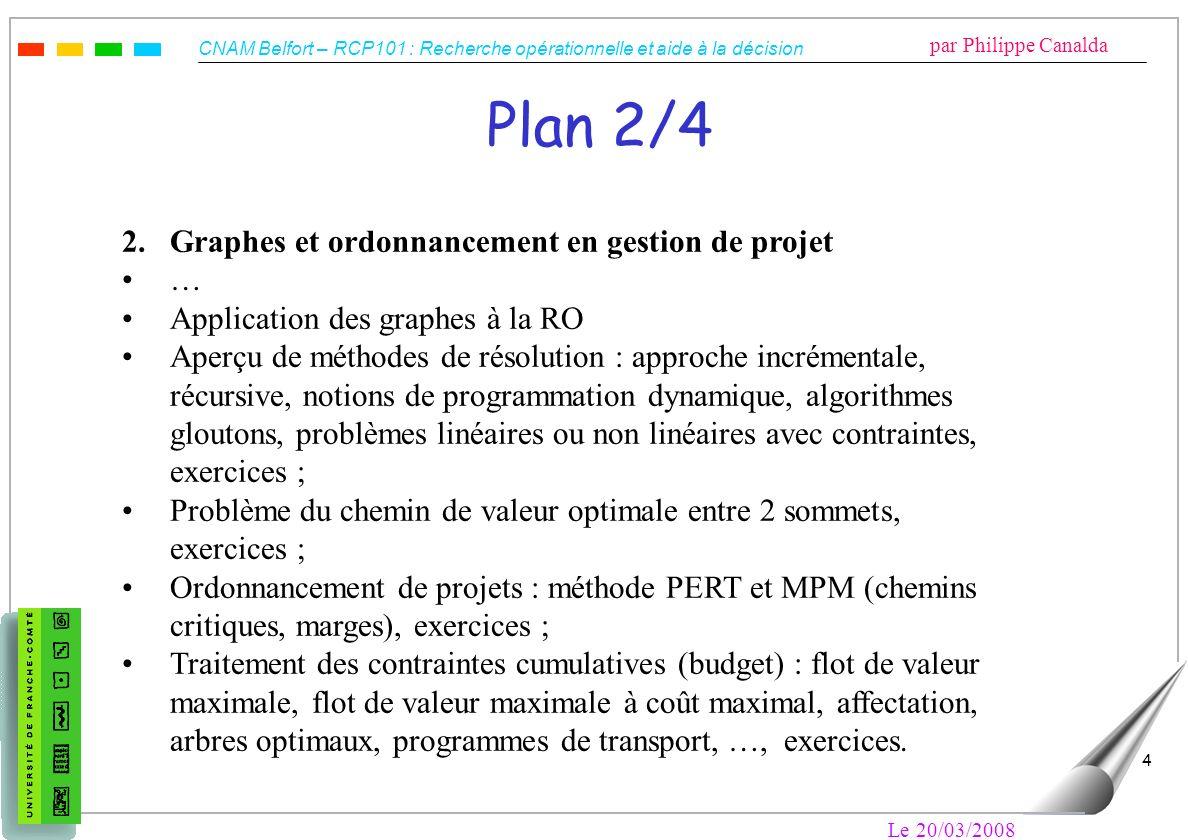 Plan 2/4 2. Graphes et ordonnancement en gestion de projet …