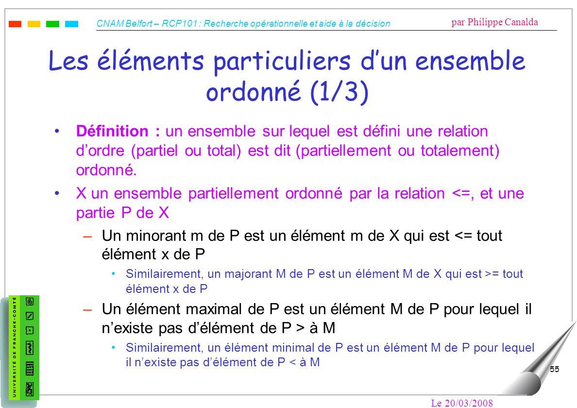 Les éléments particuliers d'un ensemble ordonné (1/3)