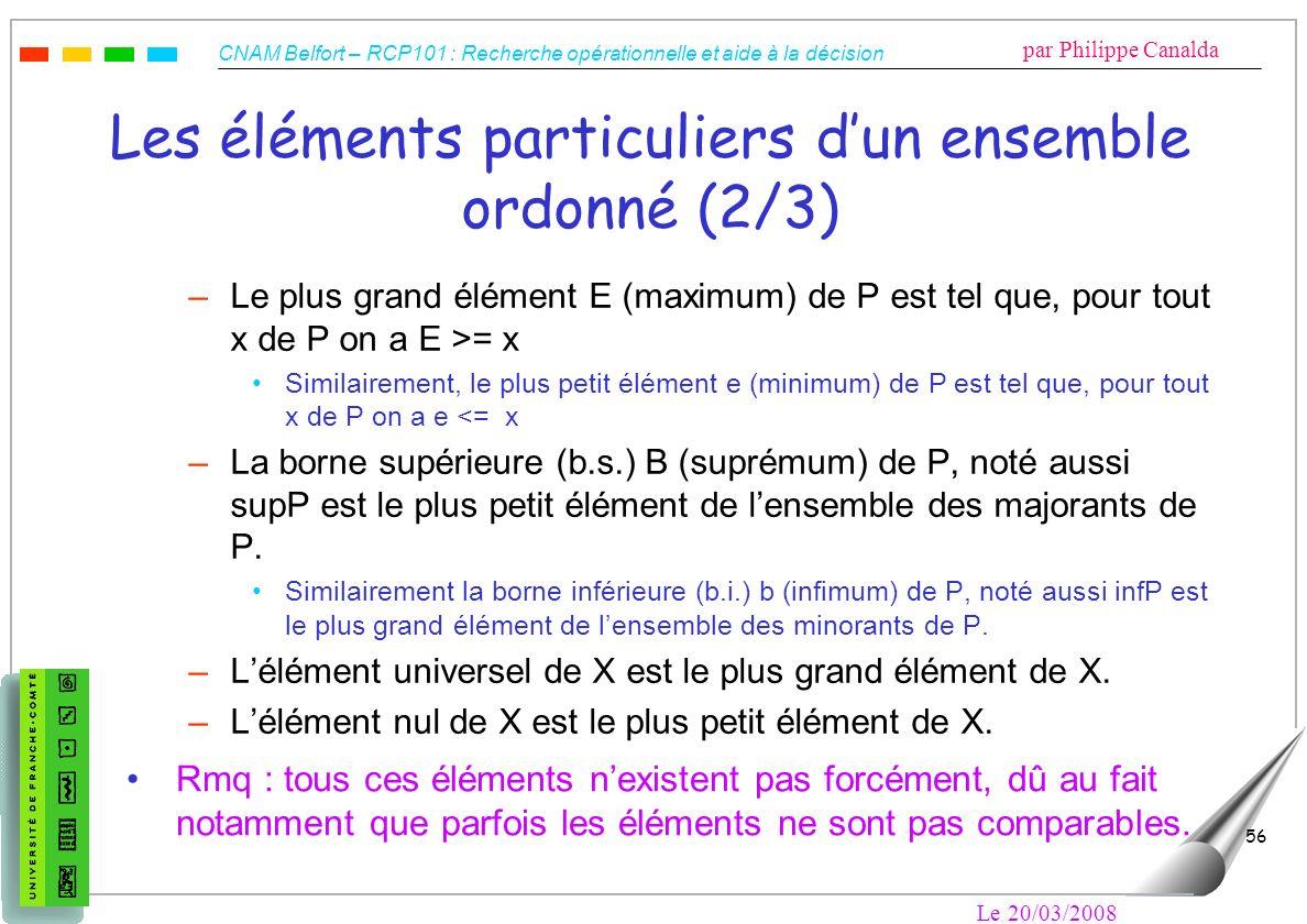 Les éléments particuliers d'un ensemble ordonné (2/3)