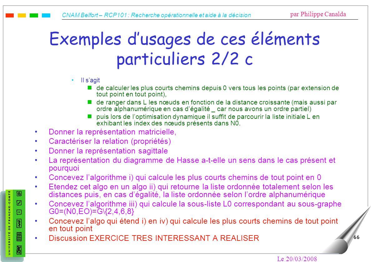 Exemples d'usages de ces éléments particuliers 2/2 c