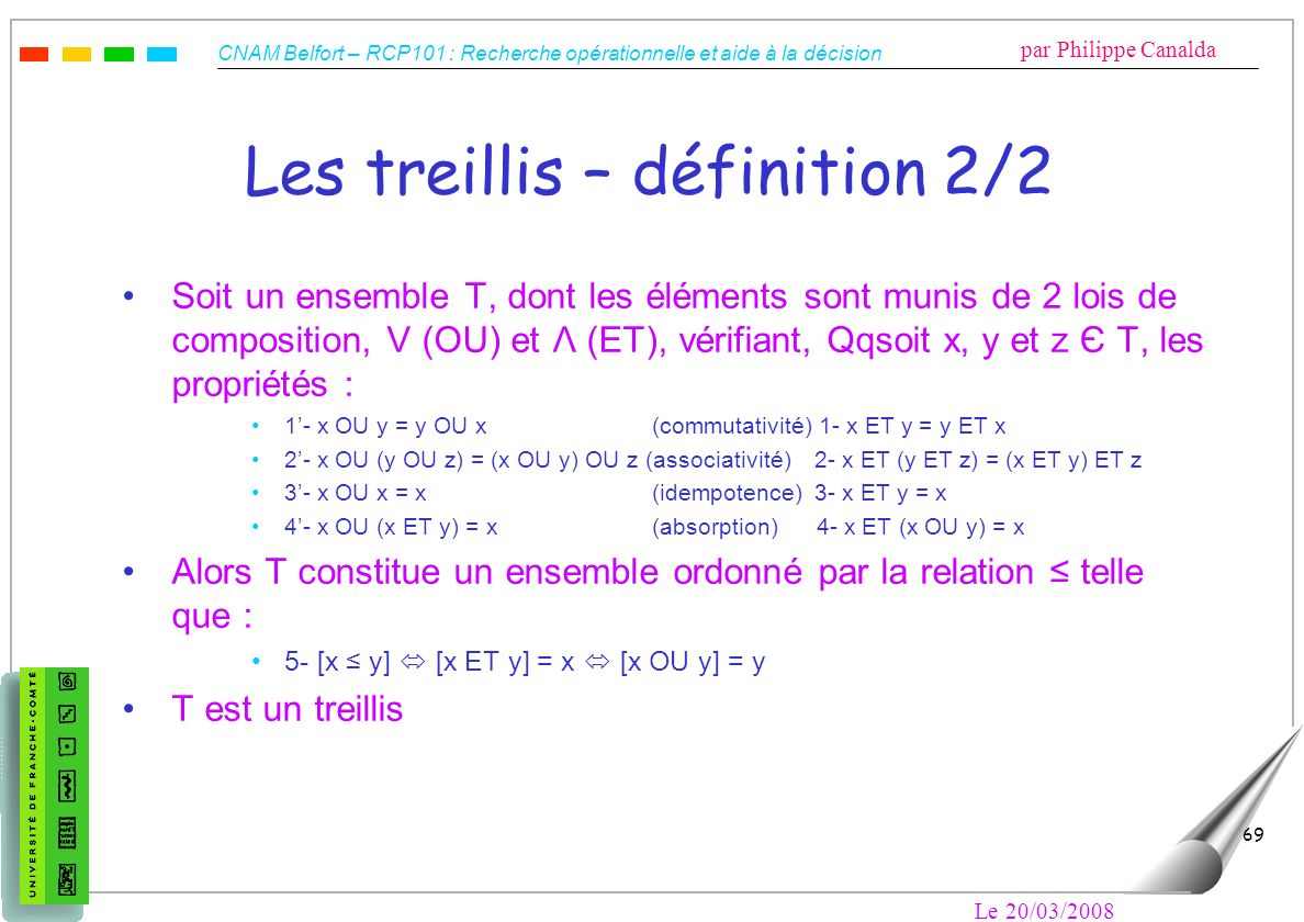 Les treillis – définition 2/2