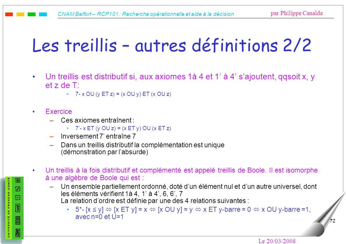 Les treillis – autres définitions 2/2
