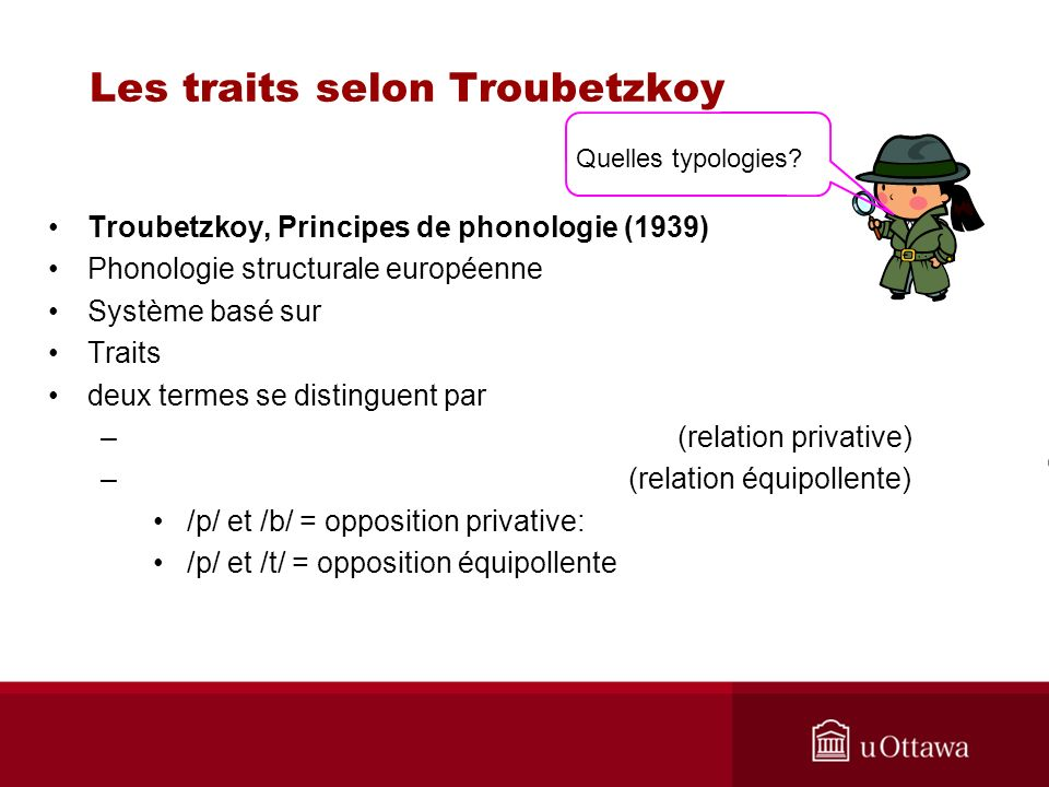 Les traits selon Troubetzkoy