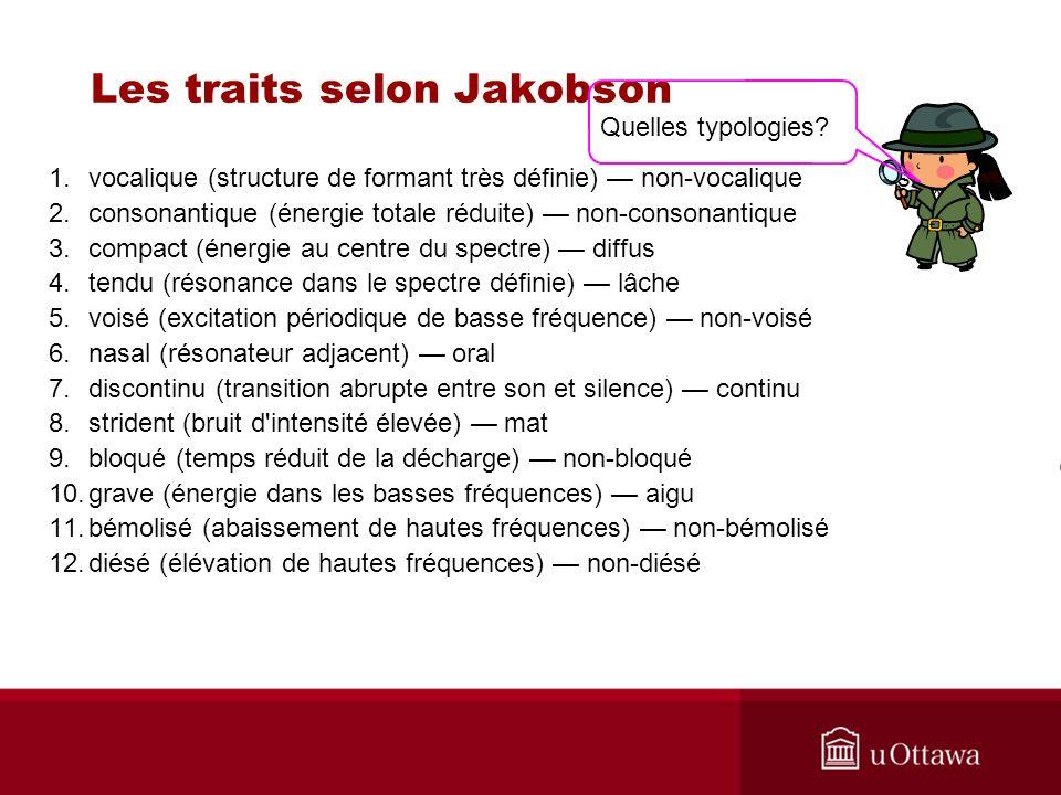 Les traits selon Jakobson