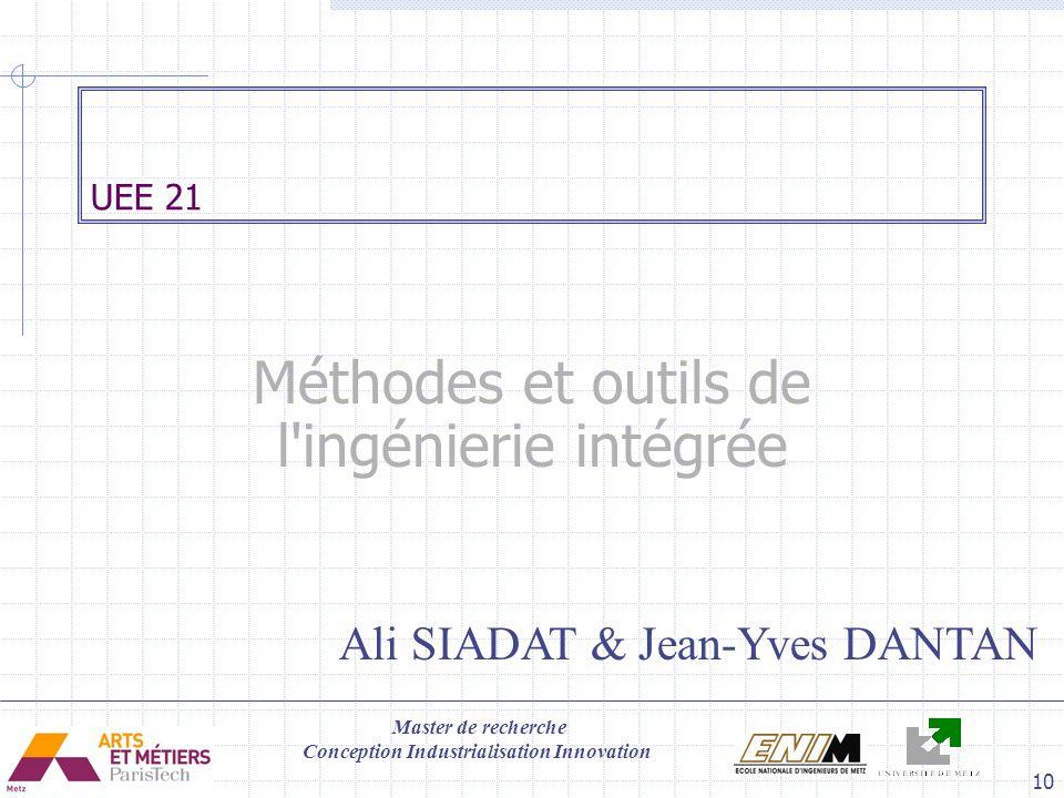 Méthodes et outils de l ingénierie intégrée