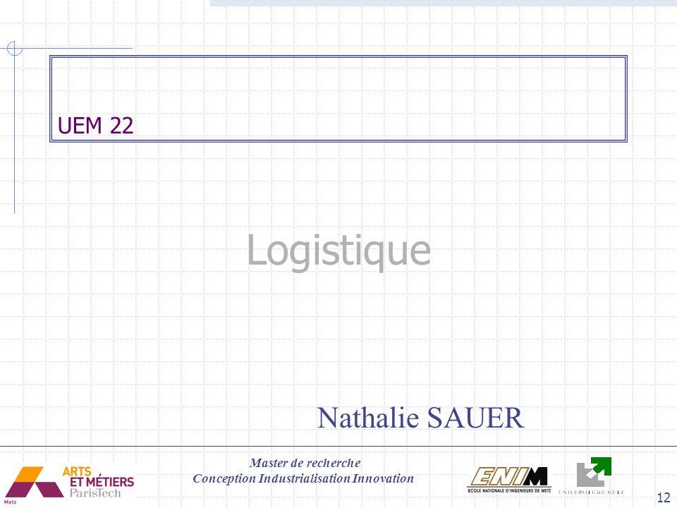 UEM 22 Logistique Nathalie SAUER