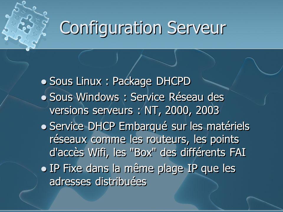 Configuration Serveur